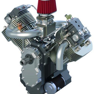 Fotoreale Darstellung Motor