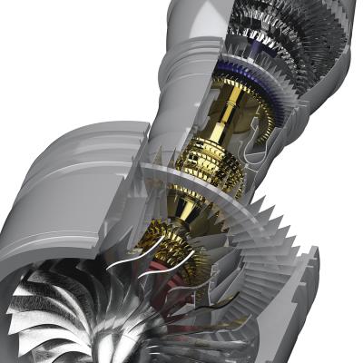 Fotoreale Darstellung Turbine